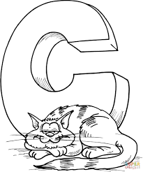 Small Picture Letter C Is For Cat Coloring Page Inside For Coloring Page glumme