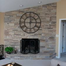 cobble stone fireplace fireplace hearth mountain stack installed without a mortar joint