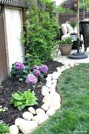 super simple rock flower bed garden borders affordable edging ideas concrete diy border materials