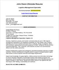 Sample Federal Resume Impressive Federal Resume Template 28 Free Samples Examples Format