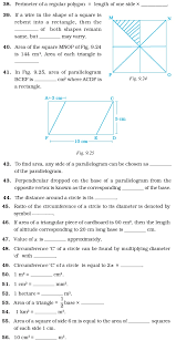 Class 7 Important Questions for Maths – Perimeter and Area ...