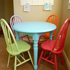 painted dining room set. paint dining table and chairs with rust-oleum calm colours painted room set