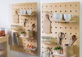These pegboards are made from thick solid white birch for strength and  sturdiness, perfect for holding mugs, bowls and kitchen accessories.