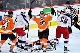 flyers nhl flyers rookie nolan patrick finally feeling more comfortable in