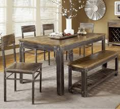 grey wood dining chairs. Dining Room, Rustic Table Little Girls Room Chandelier With Bench Seats Blue Chairs Grey Wood