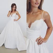 2017 white long wedding dress straps long wedding dress 2017