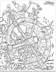 After 13 years, disney's cinematic pirates of the caribbean is finally getting its own comic book series based on the films inspired by the classic disneyland ride. Pirates Of The Caribbean Coloring Pages Coloring Home