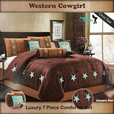 oversize luxury western texas lone star brown taupe comforter bedspread 7 pc set