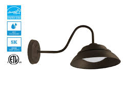 Led Gooseneck Barn Light 10 Inch Led Gooseneck Barn Light 30w Architectural Grey