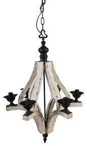 harper 6 light washed wood chandelier