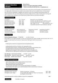 Business Operations Manager Resume 10 ...