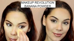 makeup revolution banana powder tutorial