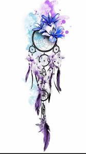 Purple Dream Catcher Tattoo Cute dream catcher girly Wallpapers Pinterest Dream catchers 38