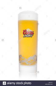 Coors Light Glass London Uk November 03 2017 Glass Of Coors Light Beer On