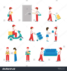 creative furniture icons set flat design. delivery service workers in process with clients icon set flat modern web isometric infographic concept vector creative furniture icons design i