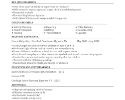 Nanny Resume Resume Template Frightening Nanny Examples Objective Experience 45