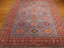 2 8 x 12 4 red and beige kazak geometric afghani rug