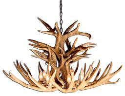 mule deer royal crown antler chandelier light extra large no shades