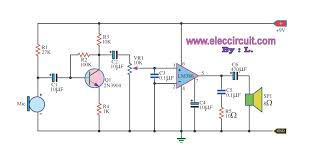 an equalization circuit employing a tl074 and two lm386 ics condenser microphone amplifier circuit lm386 amplifier circuit audio amplifier circuit lm386 lm386 stereo amplifier circuit lm386