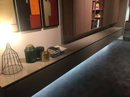 floating living room furniture with led strip light