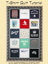 T Shirt Quilt Patterns New TShirt Quilt Tutorial For Beginners Seams To Be You And Me