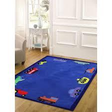 fun automobile boys rug blue kids area rug