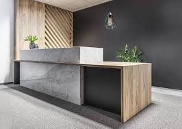 Wood Office Counter Design Embracing Wood Smart Acoustics And Cozy Aesthetics Shape