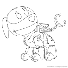 PAW Patrol Robo-Dog Coloring Page Dog Robot - Get Coloring Pages