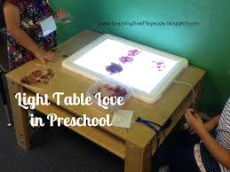 preschool art table. Light Table Love In Preschool : Teachingthelittlepeople.com Art I