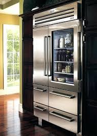 glass door residential refrigerator