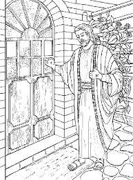 Jezus klopt op een gesloten deur