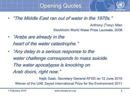 Climate Change Quotes 62 Stunning R Klingbeil 24 Water Scarcity Climate Change In The Middle Eas