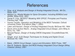 Bipolar And Mos Analog Integrated Circuit Design Ppt Ee 501 Analog Ic Design Powerpoint Presentation Free