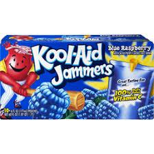 kool aid jammers drink blue raspberry