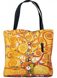 gustav klimt tree of life tote bag with zipper top free u s shipping
