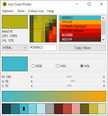 Old Ping Color Chart Just Color Picker 5 3 Best Free Colour Tool For Windows