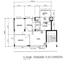 5 Room Flat Floor Plan Trend Decoration Interior Fresh On 5 Room 4 Room Flat Design