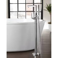 floor mount tub filler. Moen Arris Single Handle Floor Mount Tub Filler Trim With Hand Shower   Wayfair.ca