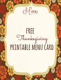 27 Images Of Thanksgiving Menu Cards Template Leseriail Com