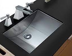 Ruvati 18 X 12 Brushed Stainless Steel Rectangular Bathroom Sink Undermount Rvh6110 Amazon Com