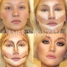 blonde contouring makeup