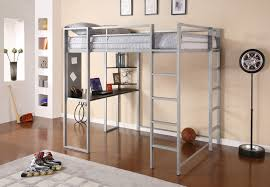 silver wrought iron loft bed narrow study desk endearing loft beds with desks underneath