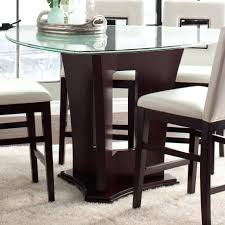 counter height glass table counter height dining table with led glass top counter height glass dining