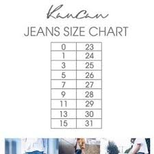 Kancan Jean Size Chart Jordan Kan Can Distress Jeans Boutique