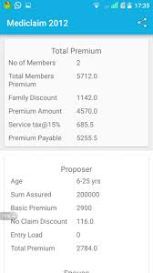 New India Insurance Family Floater Mediclaim Policy Premium Chart New India Assurance Calculator 1 1 Free Download