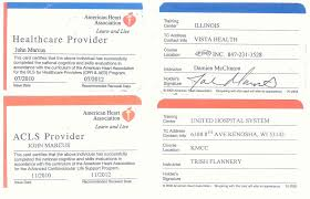 aha acls card template by cpr guidelines es