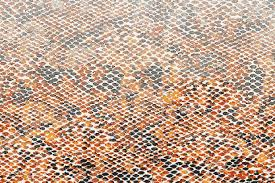 Orange Snake Skin Contemporary Textural Mosaic by Artaic