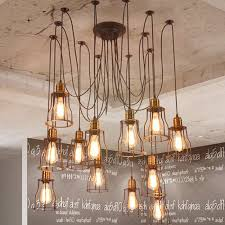 industrial lighting chandelier. Beautiful DIY Industrial Chandelier Home Decor Ideas Aisini Edison Multiple Diy Ceiling Spider Lamp Light Pendant Lighting L