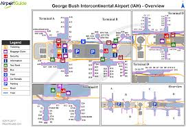 airport maps charts diagrams  george bush intercontinental