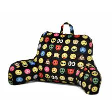 backrest pillow with arms emoji style reading pillow teen kid plush cozy